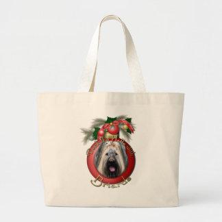 Navidad - cubierta los pasillos - Briard Bolsas De Mano