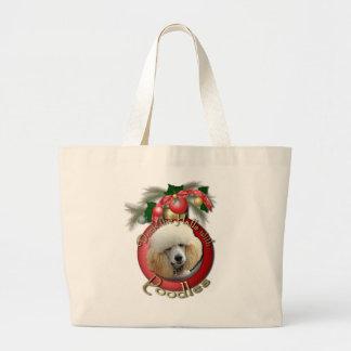 Navidad - cubierta los pasillos - caniches - albar bolsa lienzo