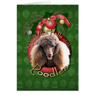 Navidad - cubierta los pasillos - caniches - choco tarjeta