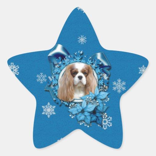 Navidad - cubierta los pasillos - Cavaliers Calcomanías Forma De Estrellaes Personalizadas