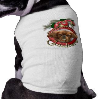 Navidad - cubierta los pasillos - Cavaliers - rubí Camiseta De Mascota