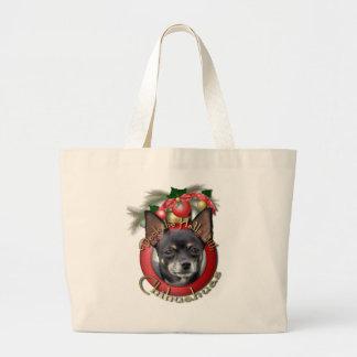 Navidad - cubierta los pasillos - chihuahuas - bolsas de mano