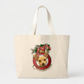 Navidad - cubierta los pasillos - chihuahuas - bolsas