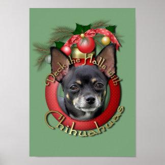Navidad - cubierta los pasillos - chihuahuas - Isa Posters