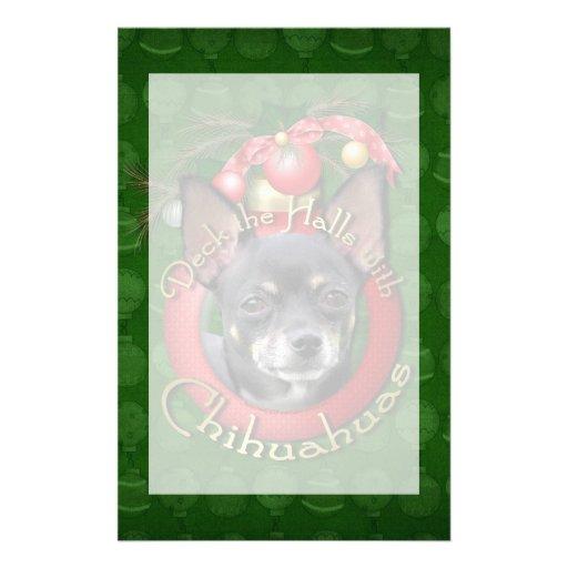 Navidad - cubierta los pasillos - chihuahuas - papelería personalizada