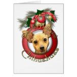 Navidad - cubierta los pasillos - chihuahuas - felicitación