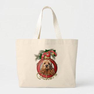 Navidad - cubierta los pasillos - cocker bolsa