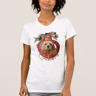 Navidad - cubierta los pasillos - cocker camiseta