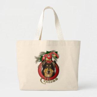 Navidad - cubierta los pasillos - collie - bolsa