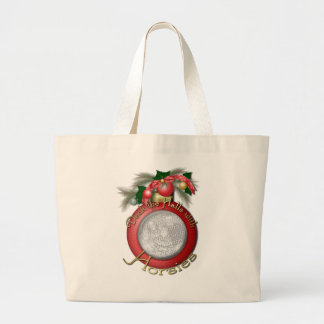 Navidad - cubierta los pasillos con Horsies Bolsas De Mano