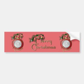 Navidad - cubierta los pasillos con los gatitos pegatina de parachoque