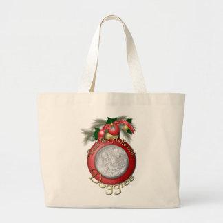 Navidad - cubierta los pasillos con los perritos bolsa de mano