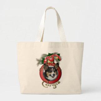 Navidad - cubierta los pasillos - Corgis Bolsas