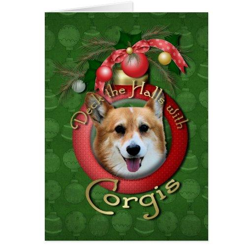 Navidad - cubierta los pasillos - Corgis - Owen Tarjeton