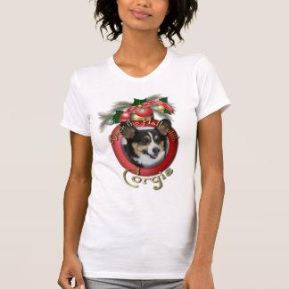 Navidad - cubierta los pasillos - Corgis Camisetas