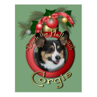 Navidad - cubierta los pasillos - Corgis Postales