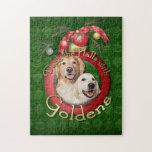 Navidad - cubierta los pasillos - corona de Golden Puzzle