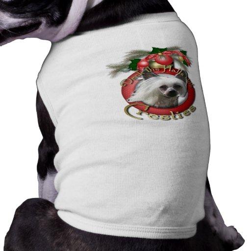 Navidad - cubierta los pasillos - Cresties Playera Sin Mangas Para Perro