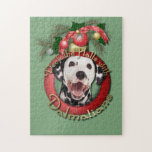 Navidad - cubierta los pasillos - Dalmatians Rompecabeza