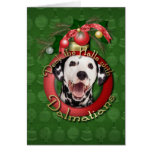 Navidad - cubierta los pasillos - Dalmatians Tarjeton