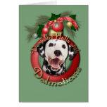 Navidad - cubierta los pasillos - Dalmatians Felicitación