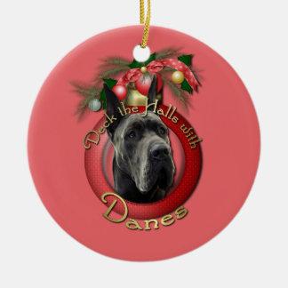 Navidad - cubierta los pasillos - daneses - gris adorno navideño redondo de cerámica