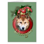 Navidad - cubierta los pasillos - Dingos Tarjeta De Felicitación