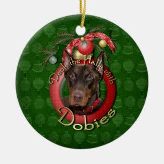 Navidad - cubierta los pasillos - Dobies - Rocky Adorno Redondo De Cerámica