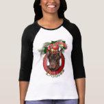 Navidad - cubierta los pasillos - Dobies - Rocky Camiseta