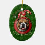 Navidad - cubierta los pasillos - dogos ornamentos de reyes