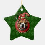 Navidad - cubierta los pasillos - dogos adorno de cerámica en forma de estrella