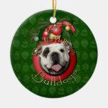 Navidad - cubierta los pasillos - dogos adorno redondo de cerámica