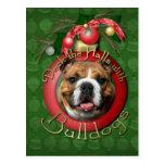 Navidad - cubierta los pasillos - dogos postal