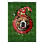 Navidad - cubierta los pasillos - dogos felicitación