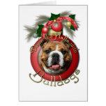 Navidad - cubierta los pasillos - dogos tarjeta