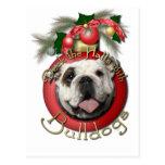 Navidad - cubierta los pasillos - dogos tarjeta postal
