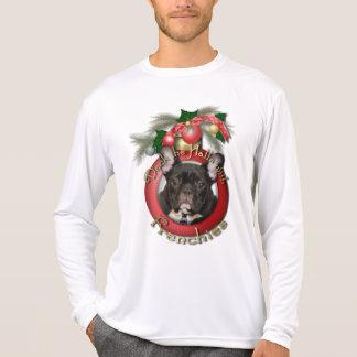 Navidad - cubierta los pasillos - Frenchies - Camiseta