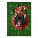 Navidad - cubierta los pasillos - Frenchies - trul Felicitaciones