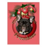 Navidad - cubierta los pasillos - Frenchies - trul Postales