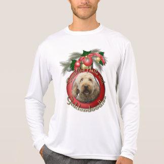 Navidad - cubierta los pasillos - Goldendoodles Camisetas