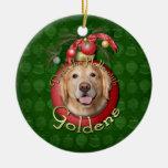 Navidad - cubierta los pasillos - Goldens - corona Adorno Navideño Redondo De Cerámica