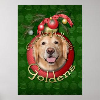 Navidad - cubierta los pasillos - Goldens - corona Impresiones