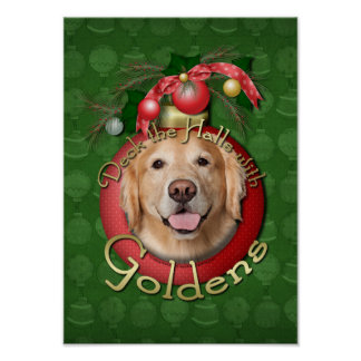 Navidad - cubierta los pasillos - Goldens Poster
