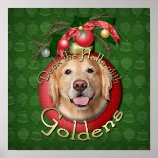 Navidad - cubierta los pasillos - Goldens Posters