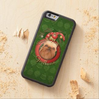 Navidad - cubierta los pasillos - Griffons Funda De iPhone 6 Bumper Arce