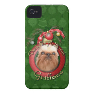 Navidad - cubierta los pasillos - Griffons Case-Mate iPhone 4 Carcasa