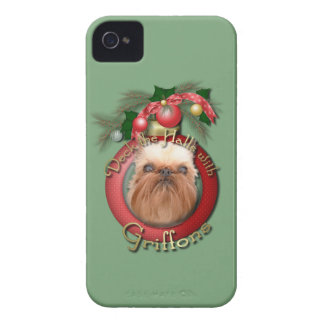 Navidad - cubierta los pasillos - Griffons Case-Mate iPhone 4 Cárcasa