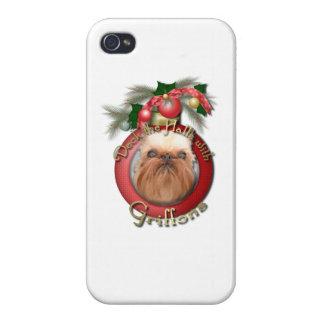 Navidad - cubierta los pasillos - Griffons iPhone 4 Carcasas