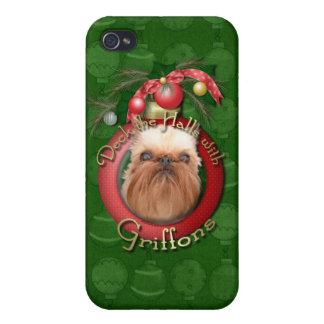 Navidad - cubierta los pasillos - Griffons iPhone 4 Cárcasa
