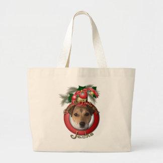Navidad - cubierta los pasillos - Jack Russell Bolsa De Mano